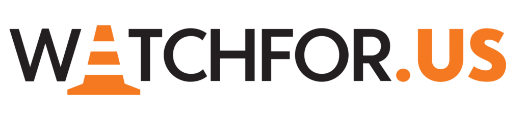 WatchForUs Logo Horizontal (Black)